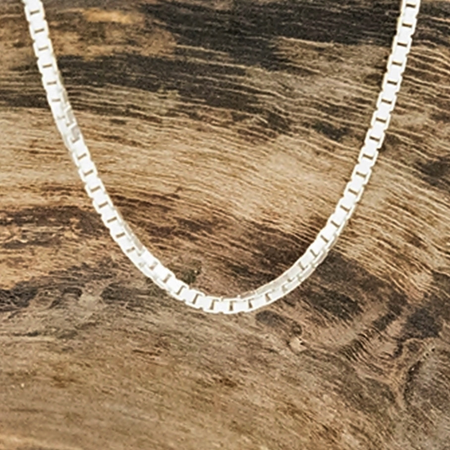 NEW Sterling Silver 925 Box Link Chain/Necklace 16-22""