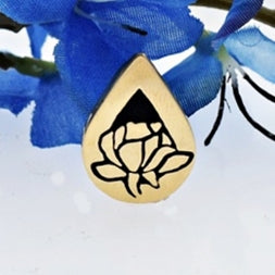 10k Yellow Gold Estate Enamel Tear Memorial Urn Pendant