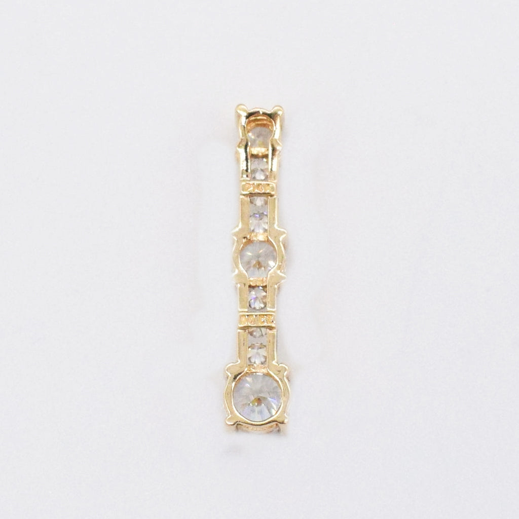 14k Yellow Gold Estate CZ Drop/Dangle Pendant