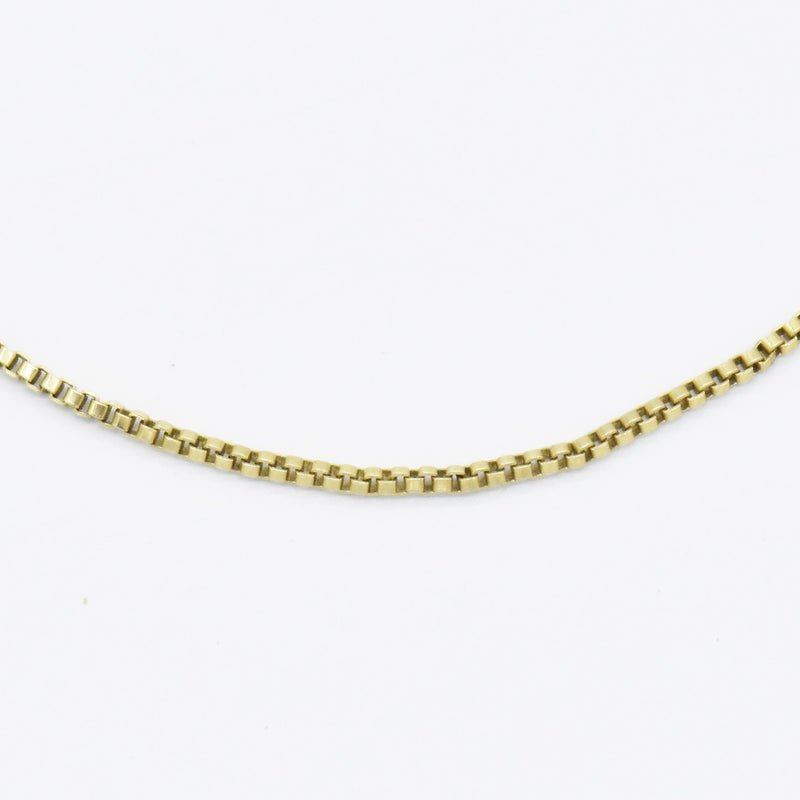 "14k Yellow Gold Estate 19"" Box Link Chain/Necklace"