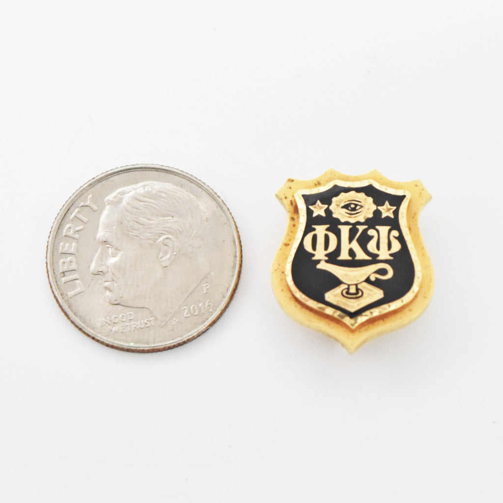 14k Yellow Gold Antique Black Enamel Phi Kappa Psi Pin