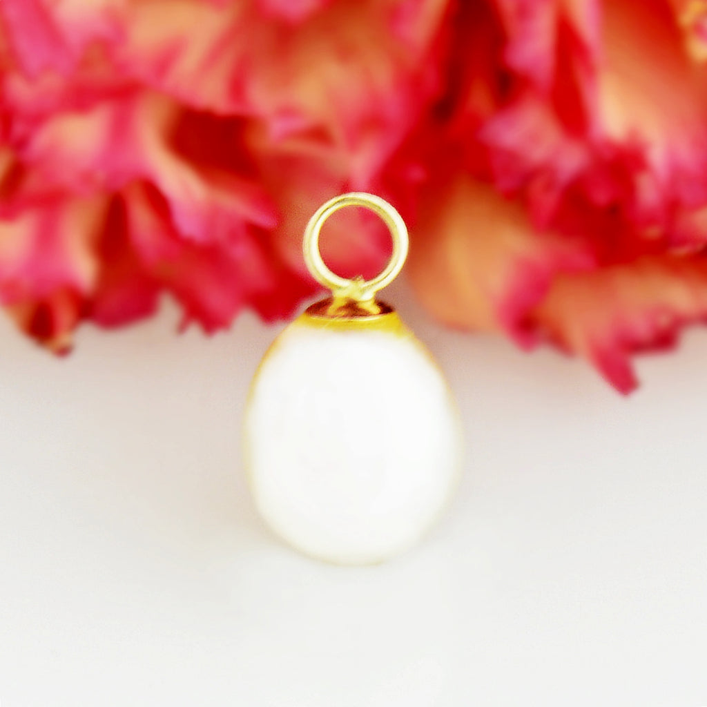 14k Yellow Gold Estate Pearl Pendant/Charm