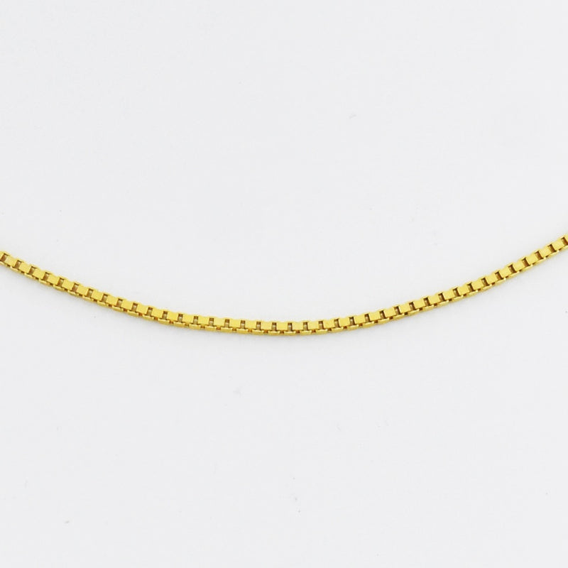 "14k Yellow Gold Estate 16"" Box Link Chain/Necklace"