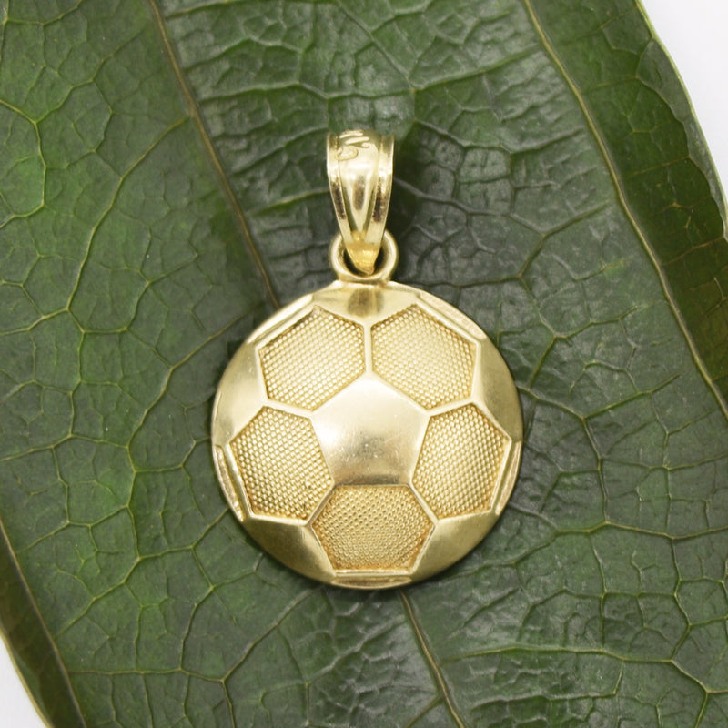 10k Yellow Gold Estate Textured Soccer Ball Pendant/Charm