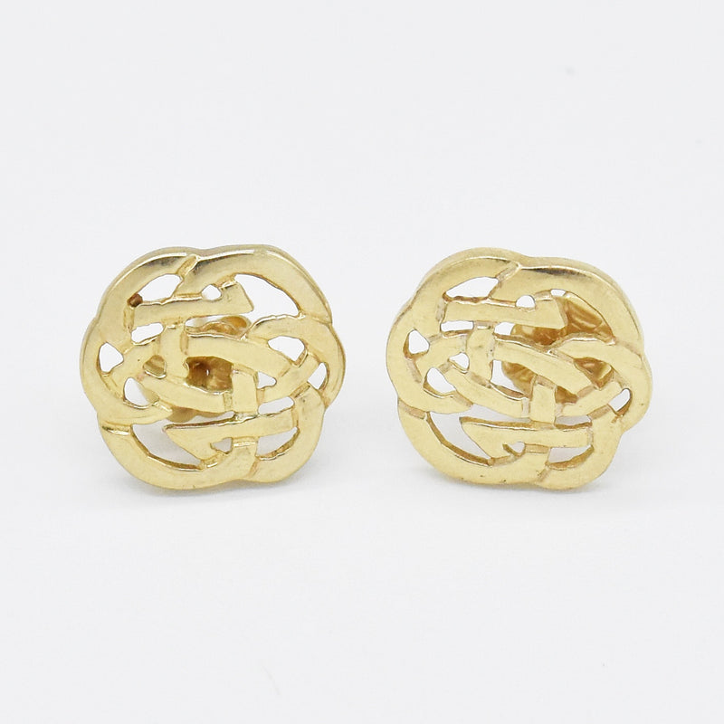 10k Yellow Gold Estate Celtic Trinity Post Earrings