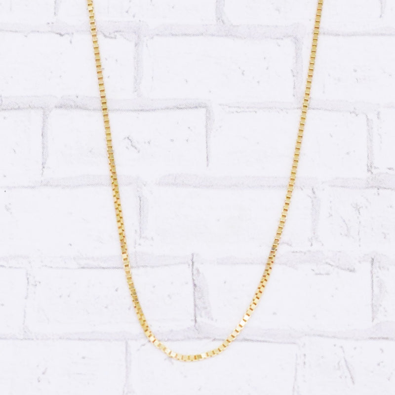 "14k YG 18"" Box Link Chain/Necklace"