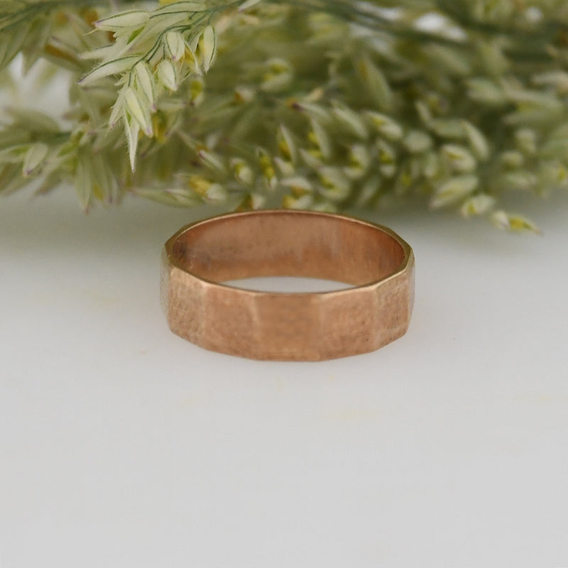 10k Rose Gold Antique Textured Baby Ring Size 1/2