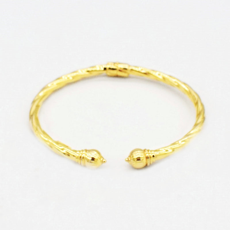 14k Yellow Gold Estate Wide 4.0 mm Thick Hinged Italian Cuff Bracelet