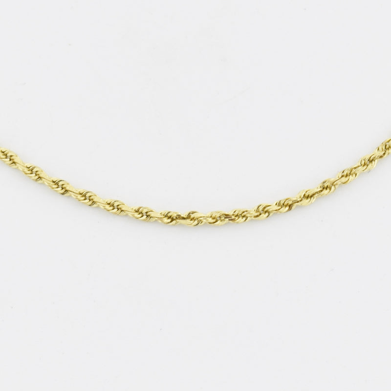 "14k Yellow Gold Estate 20.5"" Rope Link Chain/Necklace"