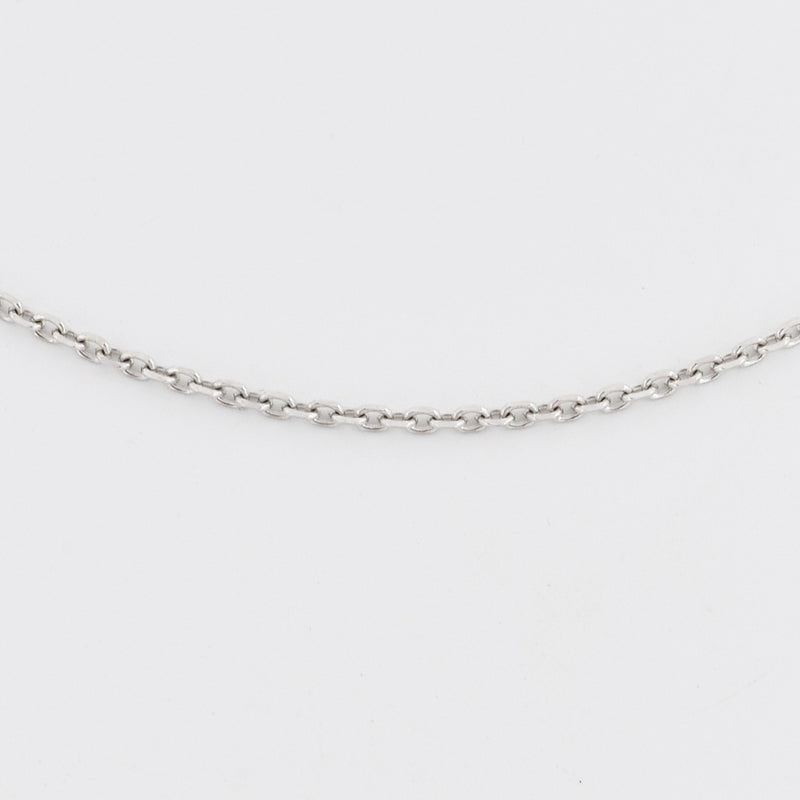 "14k White Gold Estate 16"" Rolo Link Chain/Necklace"