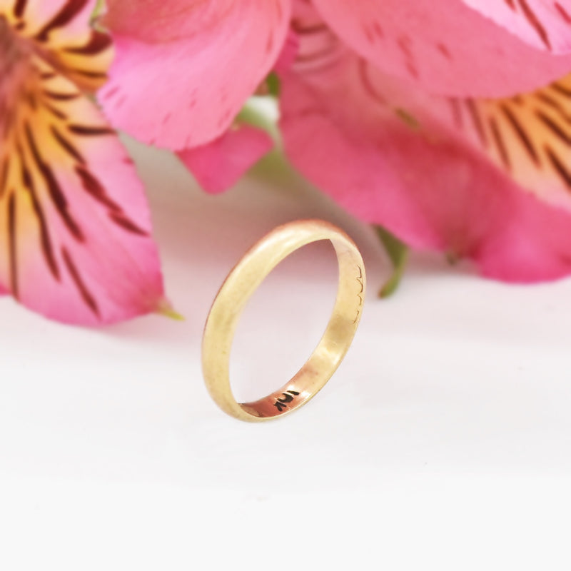 10k Yellow Gold Antique Child's Ring Size 2.5