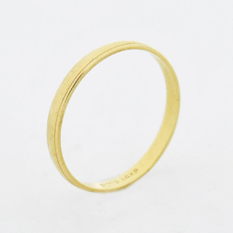 14k Yellow Gold Estate Wedding Band/Ring Size 9