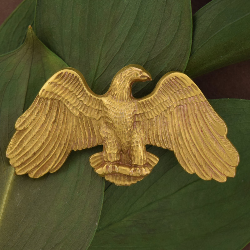 10k Yellow Gold Vintage Textured Wing Spread Eagle Pin