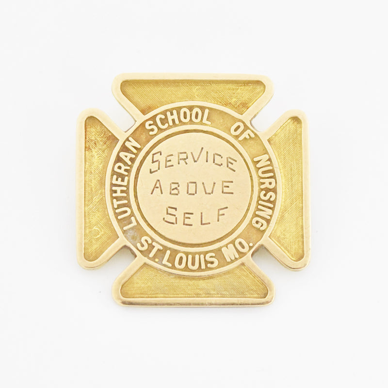 10k Yellow Gold Lutheran School Of Nursing St. Louis Mo. Pin