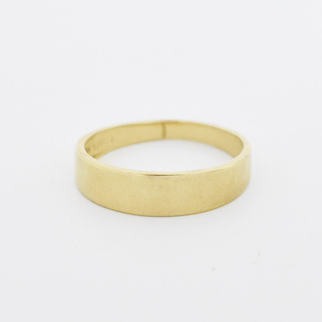 14k Yellow Gold Vintage Wedding Band/Ring Size 9.5