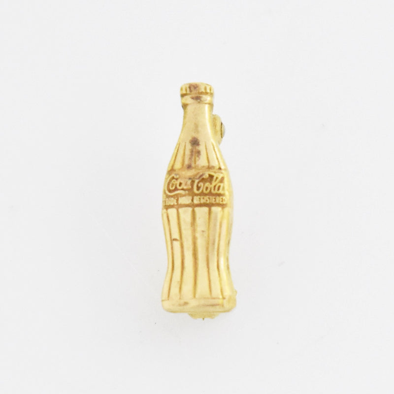 10k Yellow Gold Coca Cola Bottle Pin