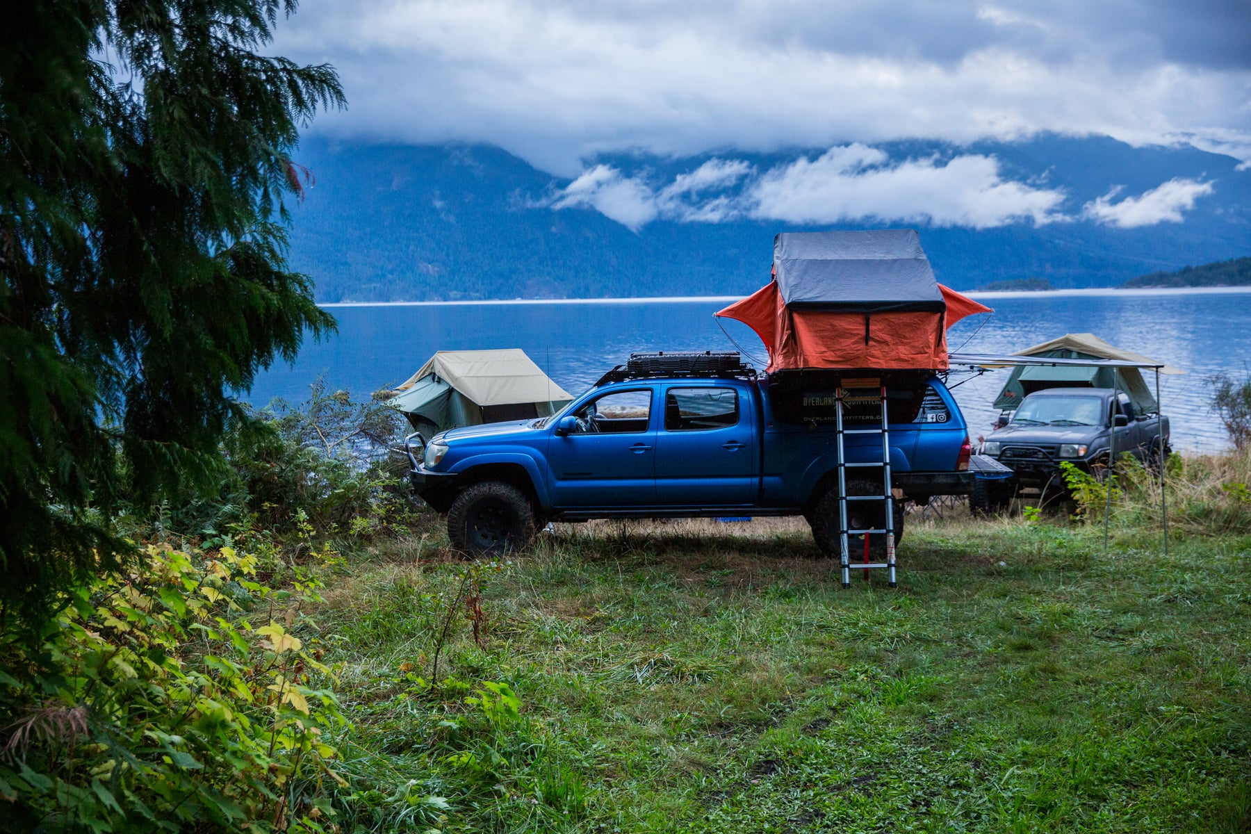 Mountain Camping in British Columbia Background