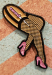 Hellcatsinc. Girly Legs lapel pin