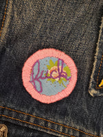 Embroidered Cursive pins