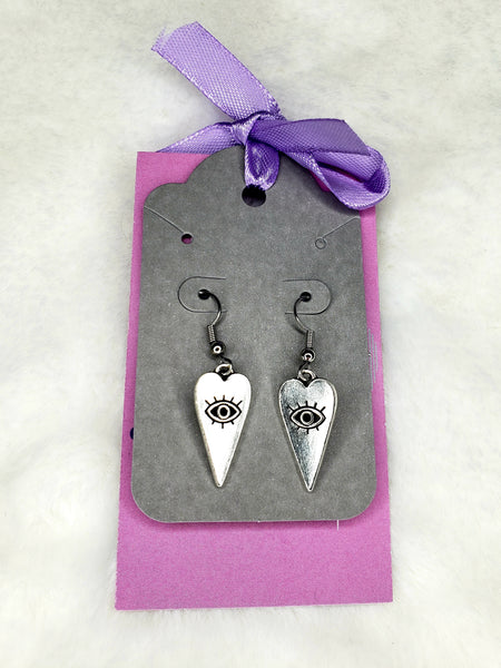 Magickgoodies Heart with Eye Earrings
