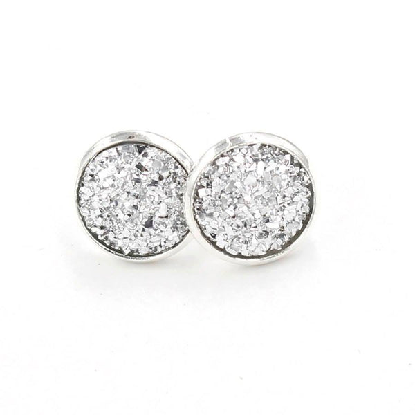Kismet Design Earrings-Druzy Silver