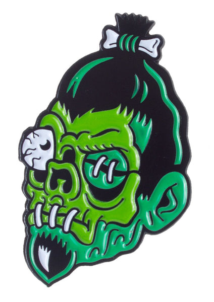 DumbJunk shrunken head pin