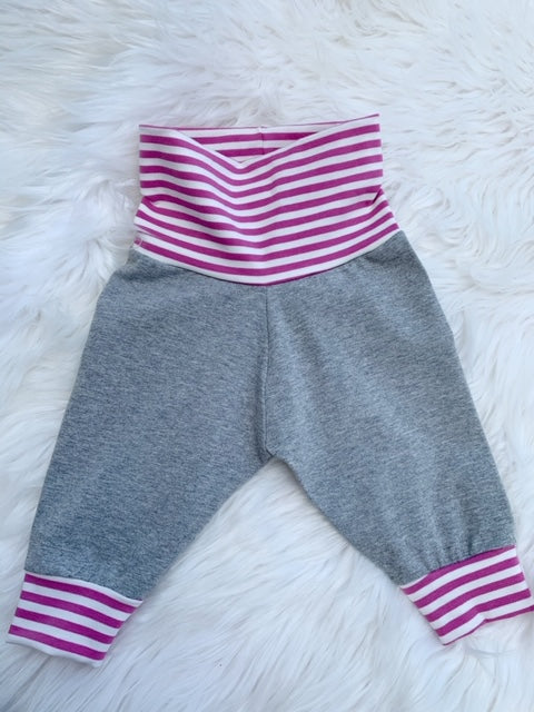 Personalized Just Joined Team  Jogger Set-Pink/Mauve Stripe