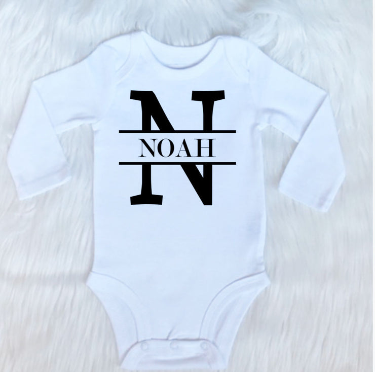 Last Name With Initial Bodysuit