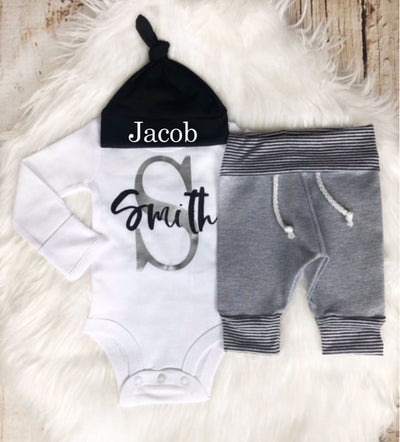 Personalized Name and Last Initial Jogger Set