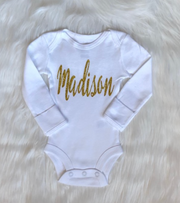 Baby Girl Personalized Name Bodysuit