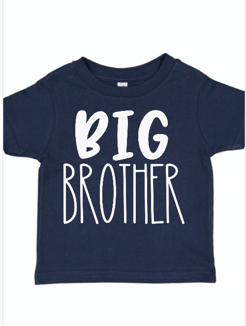 Big Brother Navy Sibling Shirt