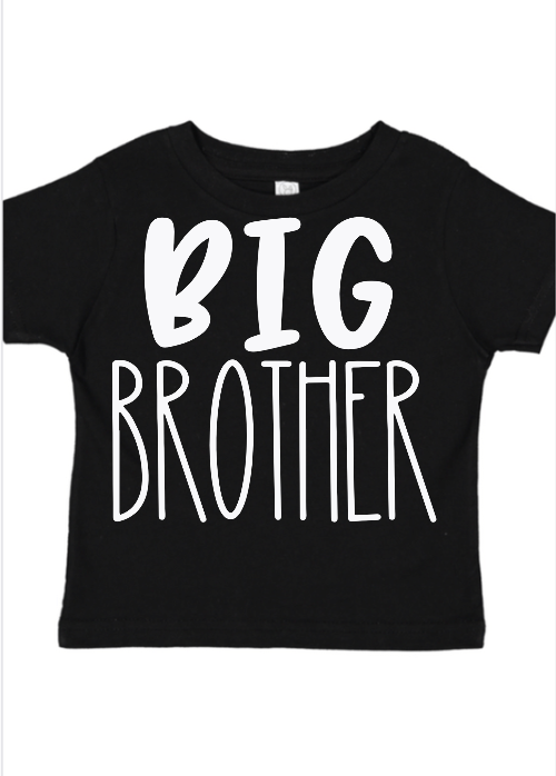 Big Brother Sibling Shirt- Black