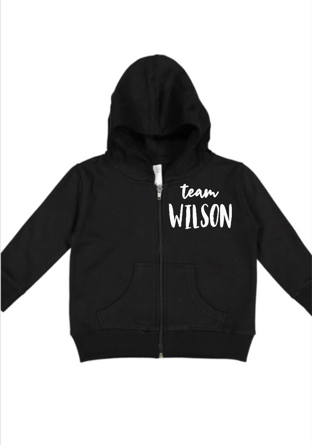 Just Joined Team Sibling Hoodie-Black