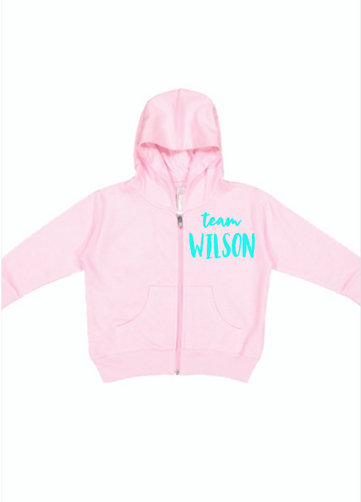 Just Joined Team Sibling Hoodie-Pink
