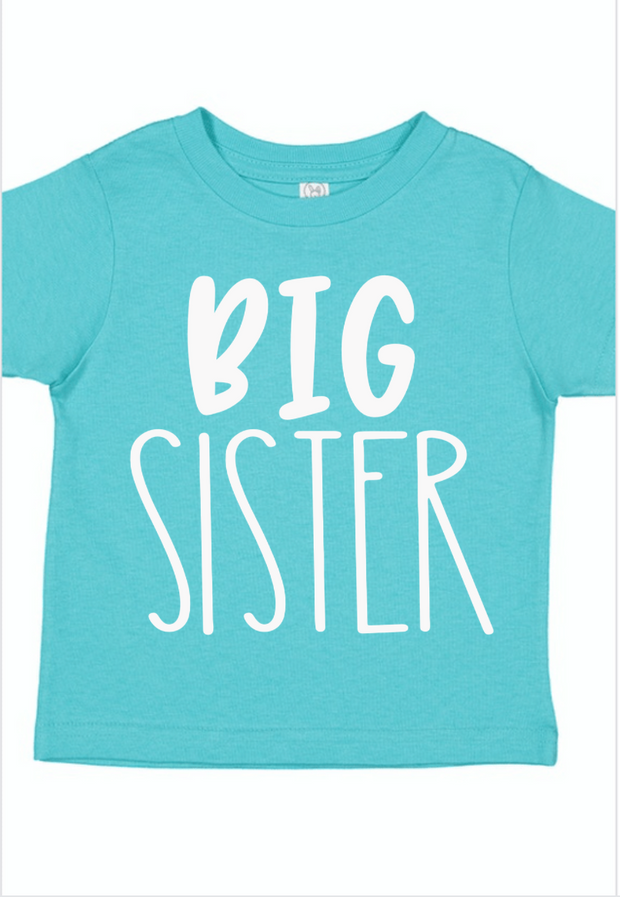 Big Sister Aqua Sibling Shirt