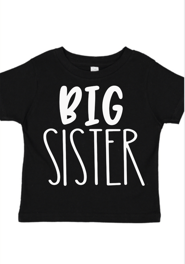 Big Sister Sibling Shirt-Black