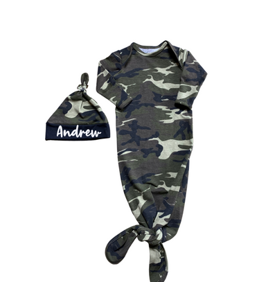 Baby Boy Gown in Camo