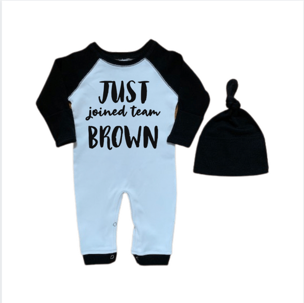 Baby Boy Romper Outfit-Just Joined Team