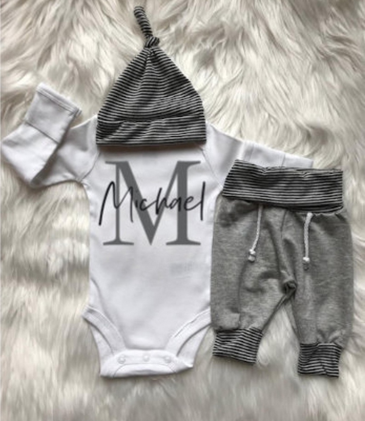 First Name with Initial Jogger Set