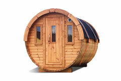 A thermowood barrel sauna offers very good quality at a moderate price.