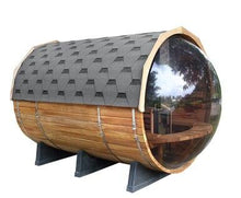 Load image into Gallery viewer, 10 FT Red Cedar Panoramic View Sauna with Porch - 9 Person - Backcountry Recreation