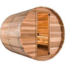Load image into Gallery viewer, 5 FT Red Cedar Scan Barrel Sauna - 4 Person Back Country Hot Tubs