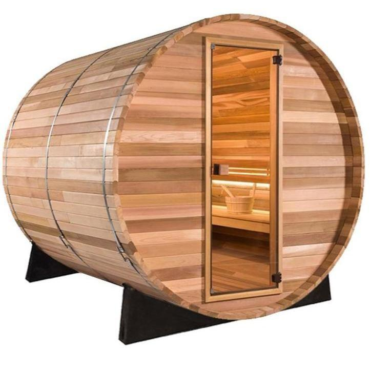 5 FT Red Cedar Scan Barrel Sauna - 4 Person Back Country Hot Tubs