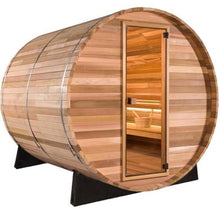 Load image into Gallery viewer, 8 FT Clear Red Cedar Barrel Sauna - 8 Person Back Country Hot Tubs