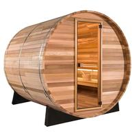 Load image into Gallery viewer, 8 FT Red Cedar / White Pine Panoramic View Barrel Sauna- 8 Person Back Country Hot Tubs