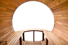 Load image into Gallery viewer, 8 FT Red Cedar / White Pine Panoramic View Sauna with Porch - 7 Person Back Country Hot Tubs