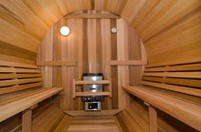 Load image into Gallery viewer, 8 FT Red Cedar Scan Barrel Sauna - 8 Person Back Country Hot Tubs