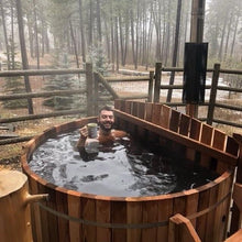 Load image into Gallery viewer, Classic Cedar Internal Wood Fired Hot Tub 6'W x 3'H (6 Person Regular) Back Country Hot Tubs