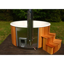 Load image into Gallery viewer, Deluxe Wood Fired Hot Tub With Liner Backcountry Hot Tubs & Saunas