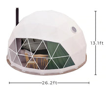 Glamping Geodesic Dome Tent Medium 26' Backcountry Hot Tubs & Saunas